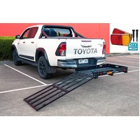 Large Mobility Scooter Wheelchair Carrier Atv Ramp Trailer with LED Light kit